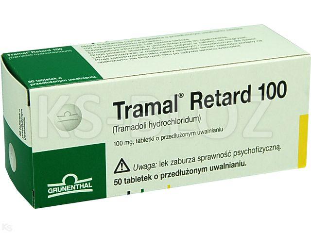 Tramal Retard 100 interakcje ulotka tabletki o przedłużonym uwalnianiu 0,1 g 50 tabl.