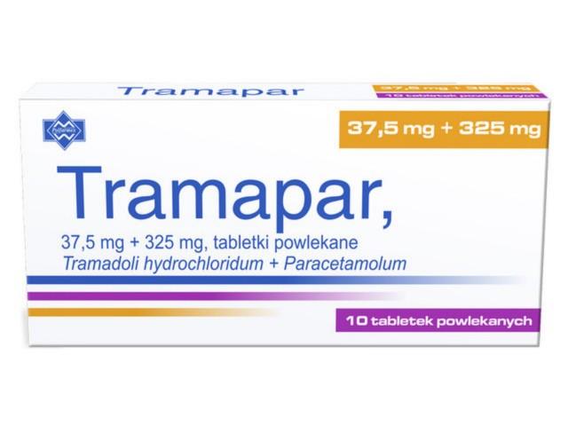 Tramapar interakcje ulotka tabletki powlekane 0,0375g+0,325g 10 tabl.