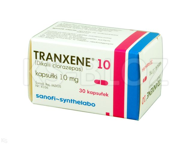 Tranxene 10 interakcje ulotka kapsułki 0,01 g 30 kaps.