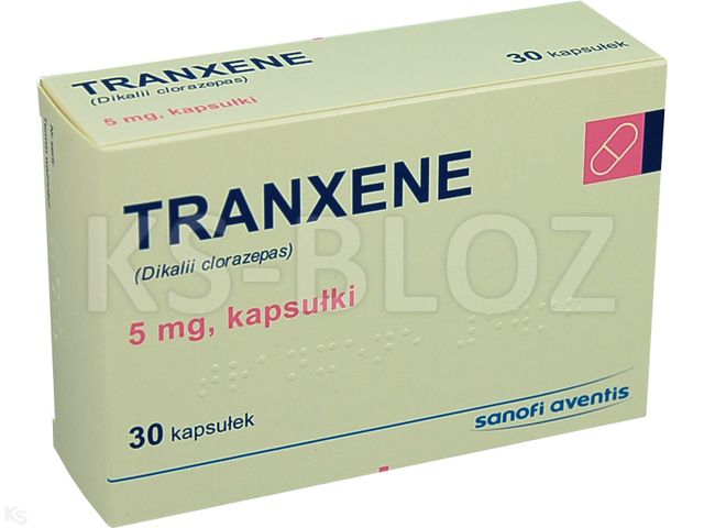 Tranxene interakcje ulotka kapsułki 5 mg 30 kaps.