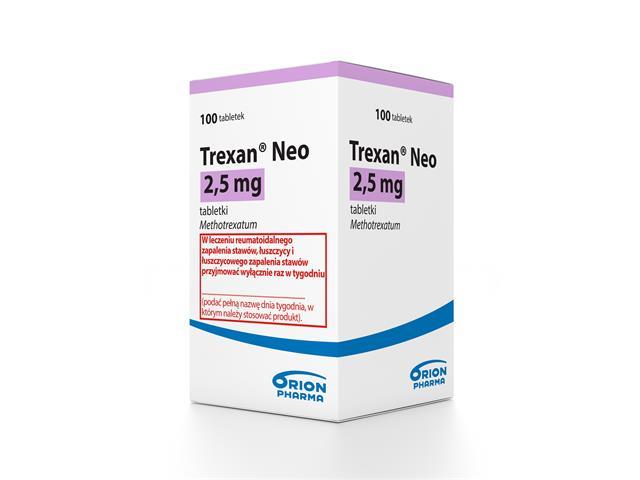 Trexan Neo interakcje ulotka tabletki 2,5 mg 100 tabl.