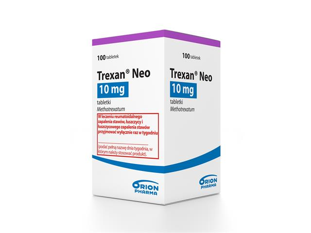 Trexan Neo interakcje ulotka tabletki 0,01 g 100 tabl.