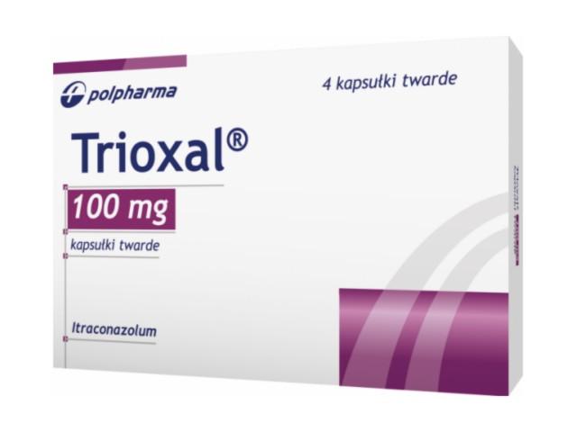 Trioxal interakcje ulotka kapsułki 0,1 g 4 kaps.