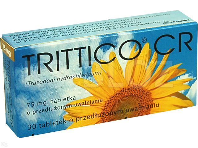 Trittico CR interakcje ulotka tabletki o przedłużonym uwalnianiu 0,075 g 30 tabl.