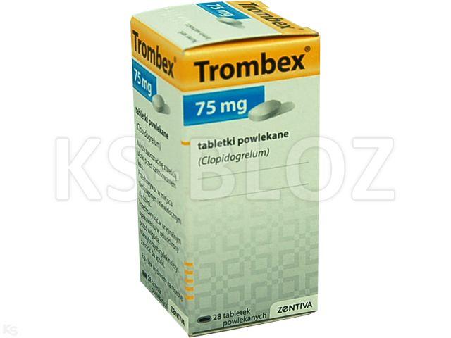 Trombex interakcje ulotka tabletki powlekane 0,075 g 28 tabl.