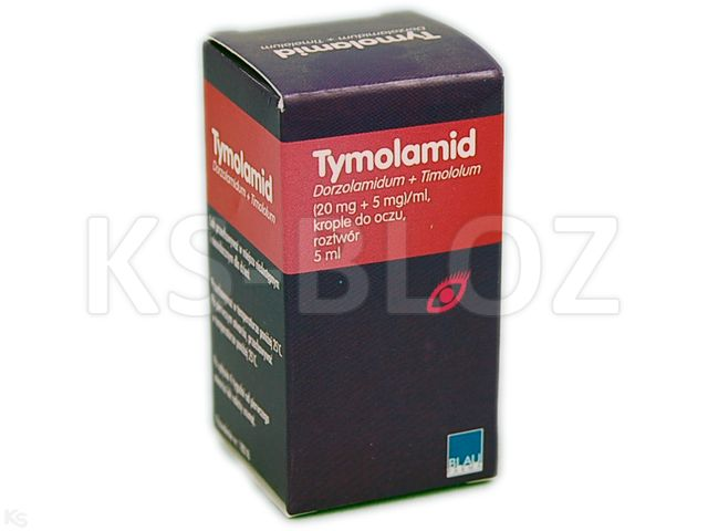 Tymolamid interakcje ulotka krople do oczu, roztwór (0,02g+5mg)/ml 1 but. po 5 ml