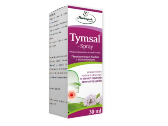 Tymsal Spray interakcje ulotka aerozol do stosowania w jamie ustnej 0,7 g 30 ml