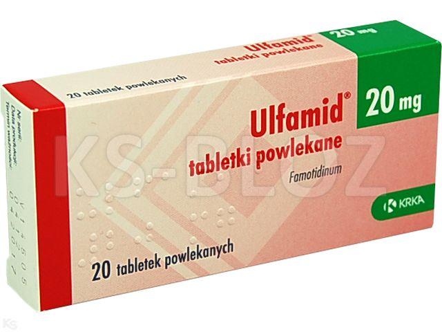 Ulfamid interakcje ulotka tabletki powlekane 0,02 g 20 tabl.
