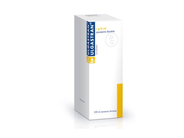 Ulgastran interakcje ulotka zawiesina doustna 1 g/5ml 250 ml
