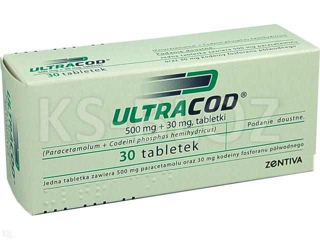 Ultracod interakcje ulotka tabletki 0,5g+0,03g 30 tabl.
