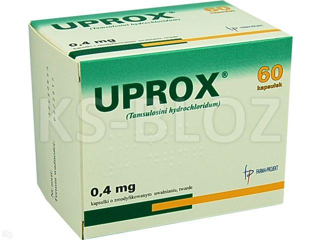 Uprox interakcje ulotka kapsułki o zmodyfikowanym uwalnianiu twarde 0,4 mg 60 kaps.