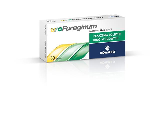Urofuraginum interakcje ulotka tabletki 0,05 g 30 tabl.