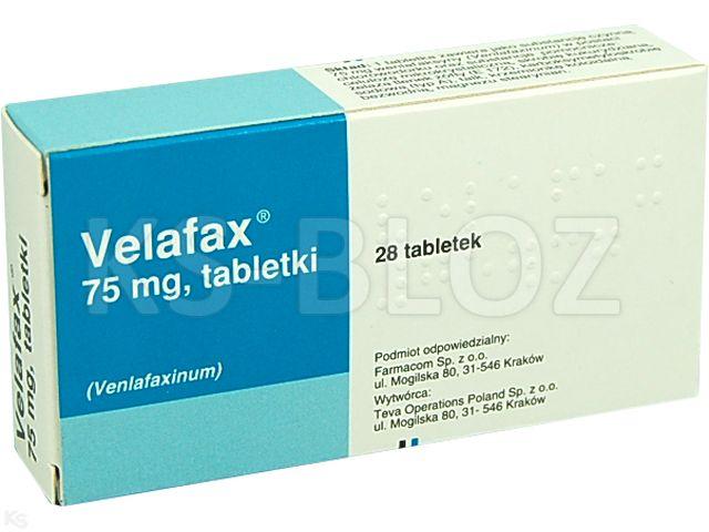 Velafax interakcje ulotka tabletki 0,075 g 28 tabl.