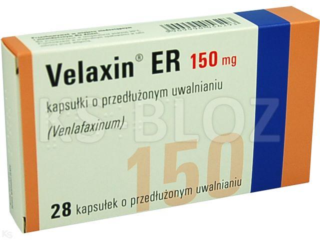 Velaxin ER 150 interakcje ulotka kapsułki o przedłużonym uwalnianiu 0,15 g 28 kaps.