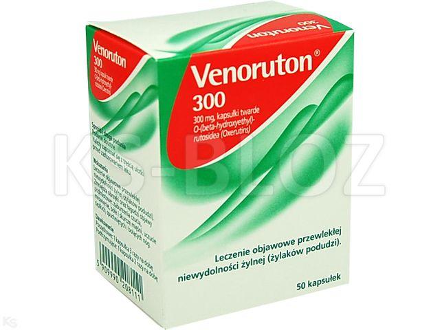 Venoruton 300 interakcje ulotka kapsułki twarde 0,3 g 50 kaps.