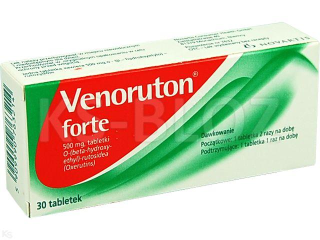 Venoruton forte interakcje ulotka tabletki 0,5 g 30 tabl.