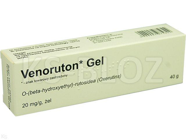 Venoruton Gel interakcje ulotka żel 0,02 g/g 40 g
