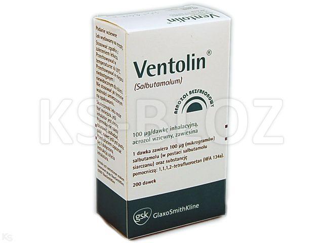 Ventolin interakcje ulotka aerozol wziewny, zawiesina 0,1 mg/daw. 1 poj. po 200 daw.