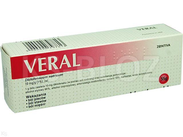 Veral interakcje ulotka żel 0,01 g/g 55 g