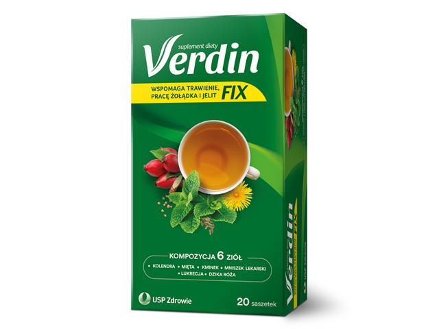 Verdin Fix interakcje ulotka zioła do zaparzania w saszetkach  20 sasz.