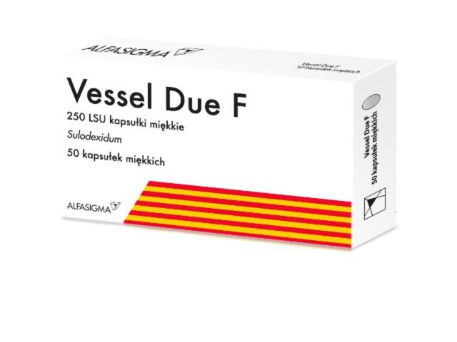 Vessel Due F interakcje ulotka kapsułki miękkie 250 j. LSU 50 kaps.