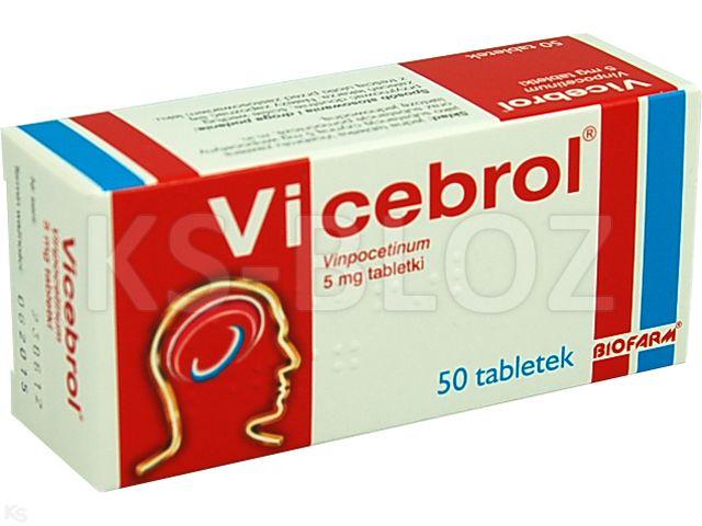 Vicebrol interakcje ulotka tabletki 5 mg 50 tabl.