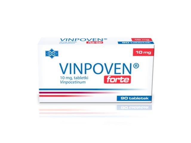 Vinpoven Forte interakcje ulotka tabletki 0,01 g 90 tabl.