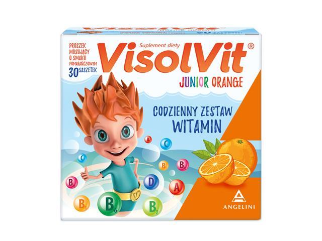 Visolvit Junior Orange interakcje ulotka granulat musujący  30 sasz.