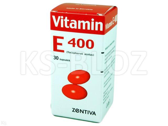 Vitamin E 400 Zentiva interakcje ulotka kapsułki 0,4 g 30 kaps.
