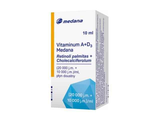 Vitaminum A+D3 Medana interakcje ulotka płyn doustny (10000j.m.+20000j.m.)/ml 10 ml