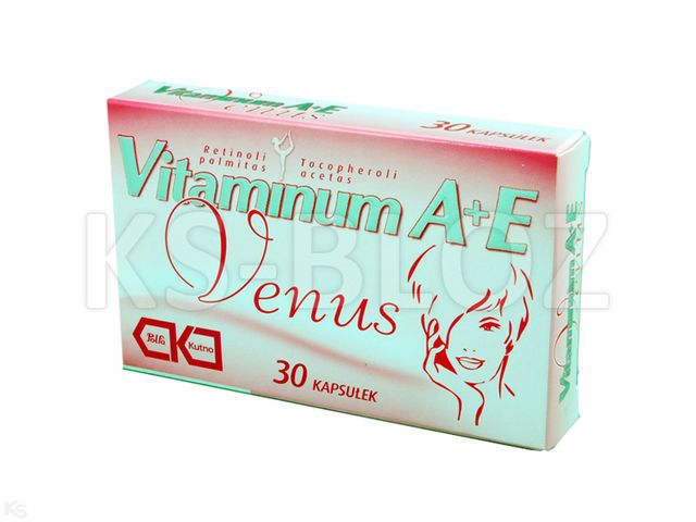 Vitaminum A+E VENUS interakcje ulotka kapsułki 2500j.m.+0,01g 30 kaps.