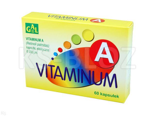 Vitaminum A GAL interakcje ulotka kapsułki miękkie 6 000 j.m. 60 kaps.