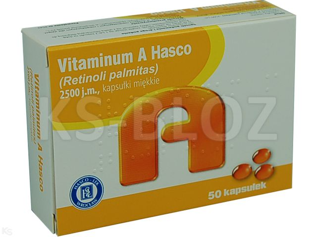 Vitaminum A Hasco interakcje ulotka kapsułki elastyczne 2 500 j.m. 50 kaps.