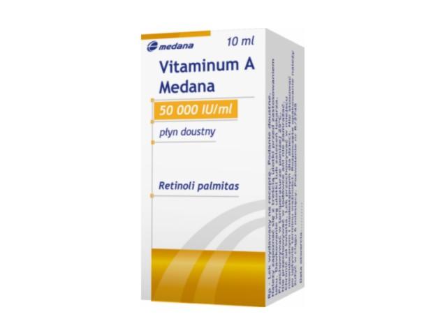 Vitaminum A Medana interakcje ulotka płyn doustny 50 000 j.m./ml 10 ml