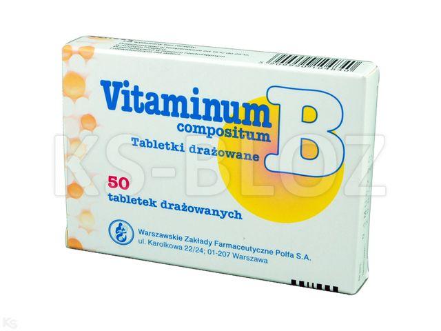 Vitaminum B compositum interakcje ulotka tabletki drażowane  50 draż. | blist.