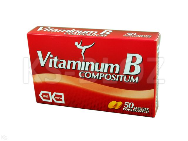 Vitaminum B compositum interakcje ulotka tabletki powlekane  50 tabl.