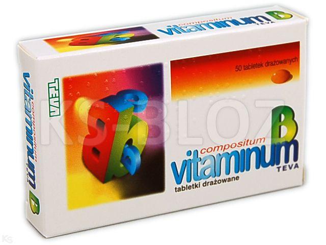 Vitaminum B compositum TEVA interakcje ulotka tabletki drażowane  50 tabl.
