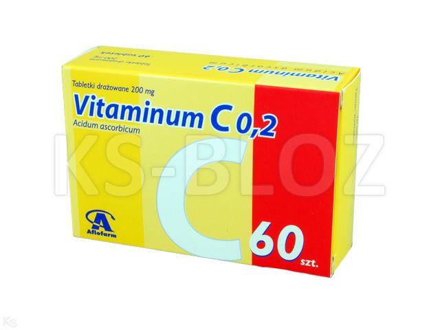 Vitaminum C Aflofarm 0,2 interakcje ulotka tabletki drażowane 0,2 g 60 draż.