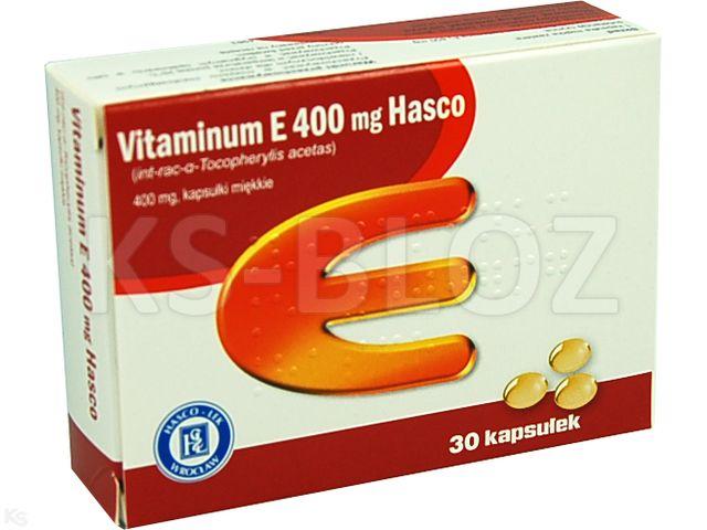 Vitaminum E 400 mg Hasco interakcje ulotka kapsułki miękkie 0,4 g 30 kaps.
