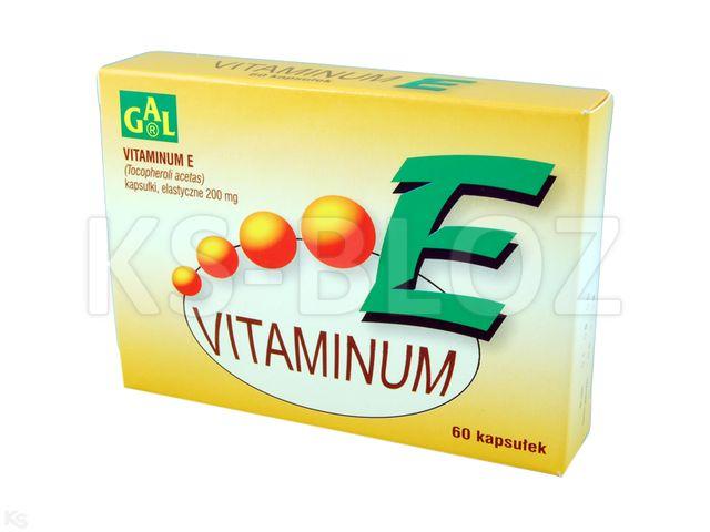 Vitaminum E GAL interakcje ulotka kapsułki miękkie 0,2 g 60 kaps. | blist.