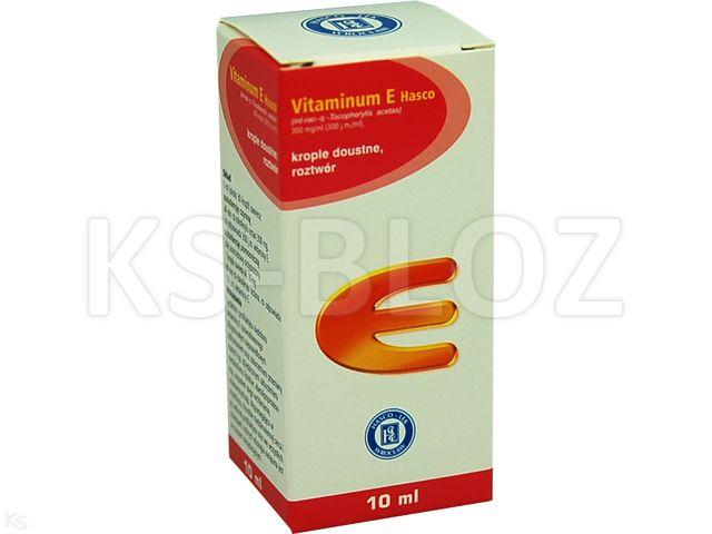 Vitaminum E Hasco interakcje ulotka krople doustne 0,3 g/ml 10 ml