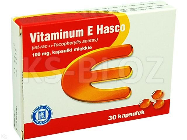 Vitaminum E Hasco interakcje ulotka kapsułki miękkie 0,1 g 30 kaps.