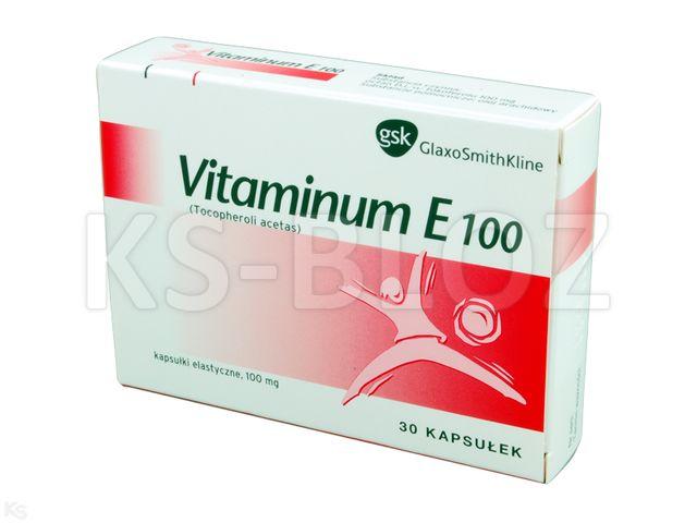 Vitaminum E interakcje ulotka kapsułki 0,1 g 30 kaps.