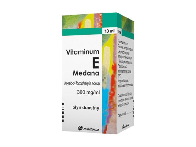 Vitaminum E Medana interakcje ulotka płyn doustny 0,3 g/ml 10 ml