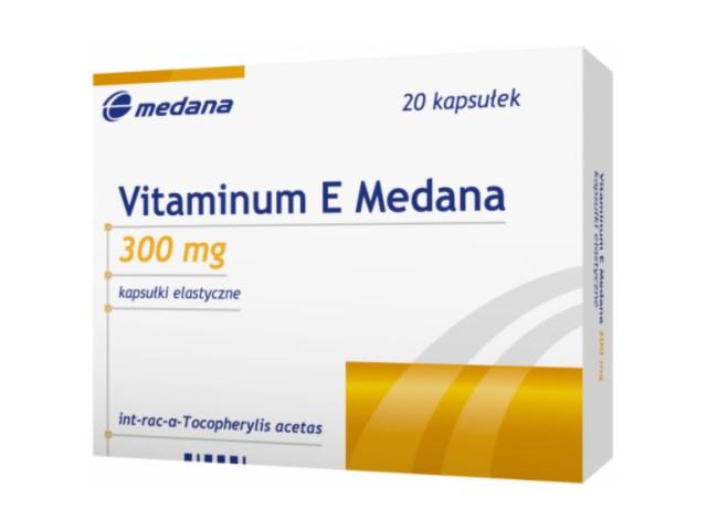Vitaminum E Medana interakcje ulotka kapsułki elastyczne 0,3 g 20 kaps.