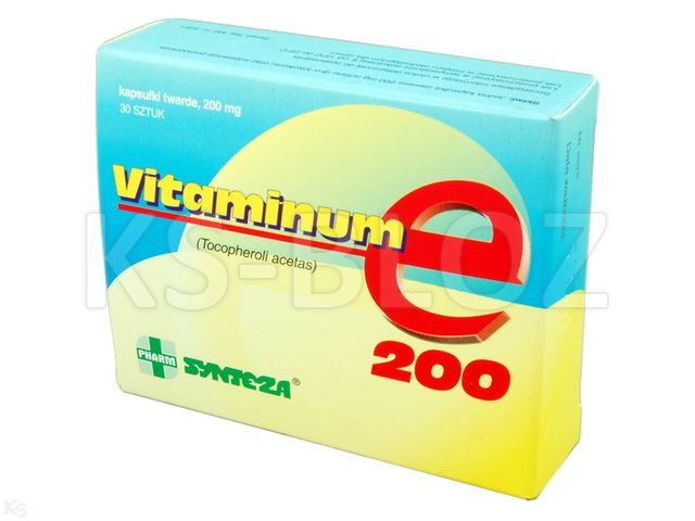Vitaminum E Synteza interakcje ulotka kapsułki miękkie 0,2 g 30 kaps.