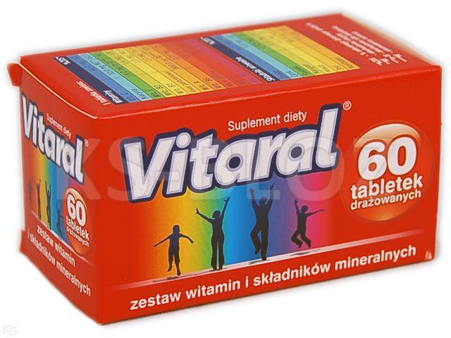 Vitaral interakcje ulotka tabletki drażowane  60 tabl.