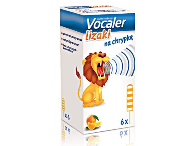 VOCALER lizaki interakcje ulotka   6 szt.