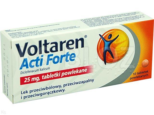 Voltaren Acti Forte interakcje ulotka tabletki powlekane 0,025 g 10 tabl.