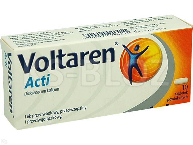 Voltaren ACTI interakcje ulotka tabletki powlekane 0,0125 g 10 tabl.